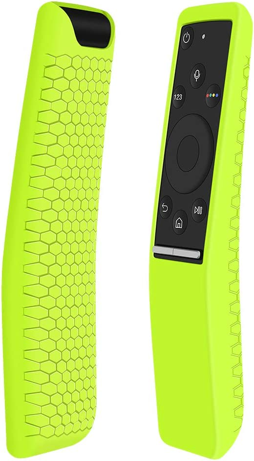 Protecitve Case Covers Holder Compatible for Samsung Smart TV Remote Controller of BN59 Series,Cute Silicone Remote Case Skin Sleeve Protector for Samsung Curved Smart 4K Remote-Yellow Green