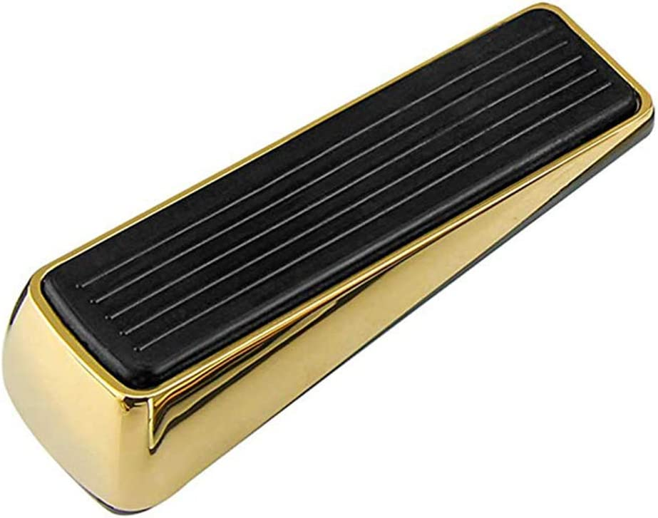 LNDDP 2 Piezas uñas aleación Zinc sin Clavos Tope Puerta Tope Puerta Soportes Goma Ocultos para Puertas Bronce Oro Negro Cromo Brillante