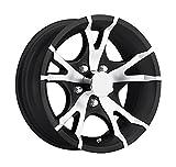 14 x 5.5 Sendel T07 Black Machined Aluminum Trailer Wheel 5x4.5 Bolt Pattern