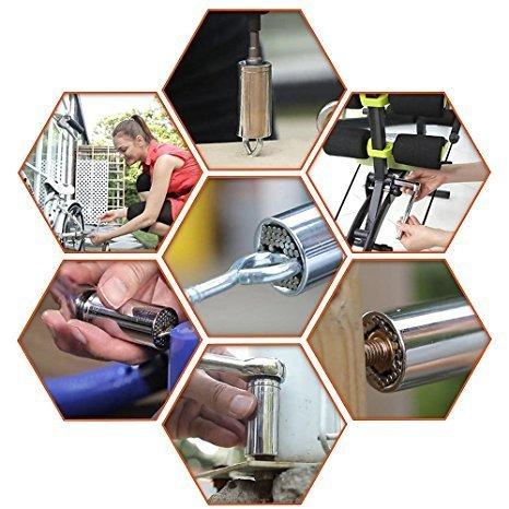 yaetek 3pcs multifunci/ón Grip Universal Socket Wrench Adaptador de Taladro El/éctrico