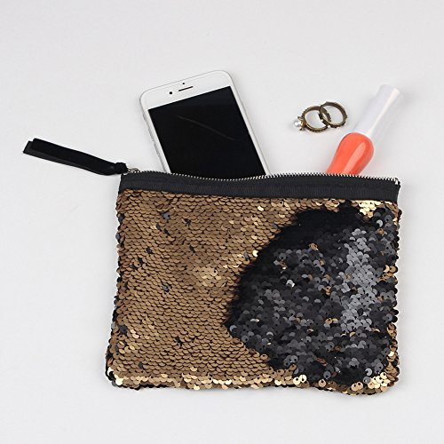 Wallet Double Women Purse Color Holder Sequins A Voberry Wallet Card IqRPwvF