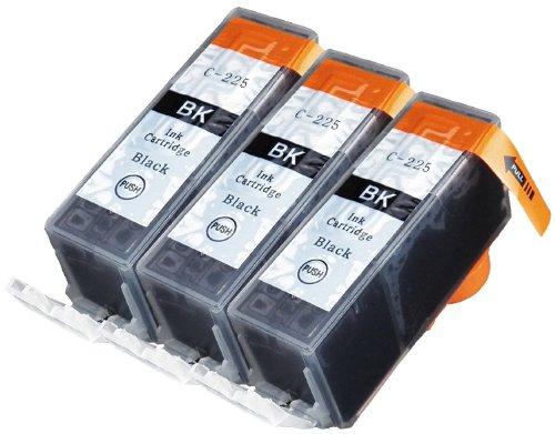 K-Ink Canon PGI-225 Black Ink Cartridges Compatible Replacement (3 Big Black) (Canon Mg8120 Ink Cartridges)