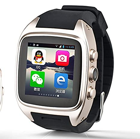 Best Smartwatch Zhihe Android 4.4.2 Smart Watch with 3g WCDMA WiFi GPS Bluetooth Android Smartwatches (Golden)