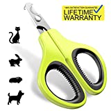Updated 2019 Version Cat Nail Clippers and Trimmer - Professional Pet Nail Clippers and Claw Trimmer - Best Cat Claw Clippers for Bunny Rabbit Puppy Kitten Ferret Kitty and Small Animals - Sharp, Safe
