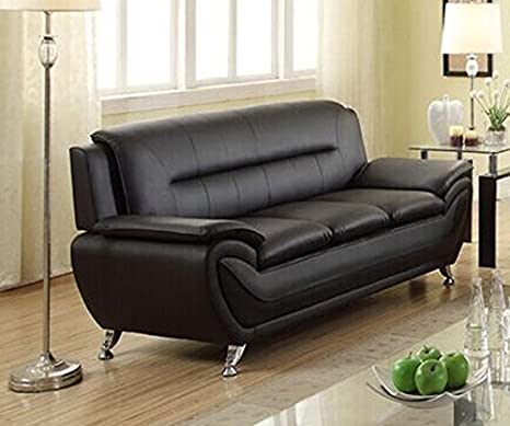 US Livings Anya Contemporary Modern Living Room Sofa (Black)