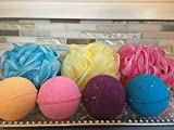 Bath Bombs 48 Pack 4.oz. Hand Made Individually Wrapped Assorted Colors and Scents Bulk