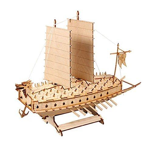 (Battleship TURTLE SHIP Model Kits Korean Classic Warship Wood by Young Modeler )