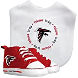 Baby Fanatic Bib and PreWalkers Infant New Born Gift Set, NFL Atlanta Falcons