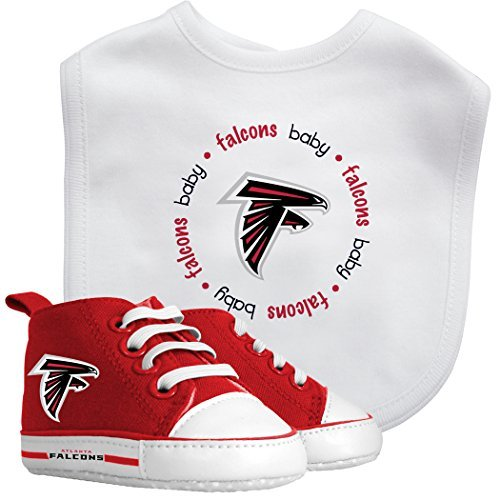Baby Fanatic Bib and PreWalkers Infant New Born Gift Set, NFL Atlanta Falcons by Baby Fanatic