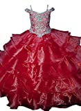 Yang Girls 15 16 Ball Gowns Floor Length Pageant Dresses 16 US Red