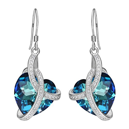 Bermuda Blue Crystal - EleQueen 925 Sterling Silver CZ