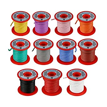 ebf63cbc2196 BNTECHGO 16 Gauge Silicone Wire - Soft and Flexible High Temperature  Resistant Highly Efficient 16 AWG Silicone Wire 252 Strands of copper wire   Amazon.com  ...