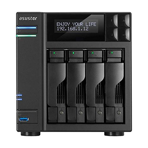 ASUSTOR as6404t Sistema NAS de 4àbahÃas (Intel Celeron (Apollo Lake), 8àGB de RAM, Gigabit LAN con agregaciÃn de Enlace, HDMI 2.0, Hot Swap, Raid 0, 1, 5, 6, 10ào JBOD) Negro