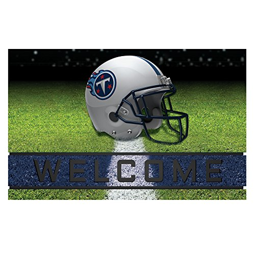 Fanmats 19963 Team Color Crumb Rubber Tennessee Titans Door Mat, 1 Pack