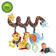 Hanging Toys for Car Seat, willway Infant Baby Educational Plush Toys for Crib Bed Stroller Car Seat