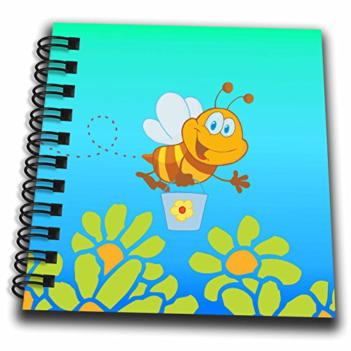 - 3dRose db_56831_3 Happy Little Bumblebee-Mini Notepad, 4 by 4