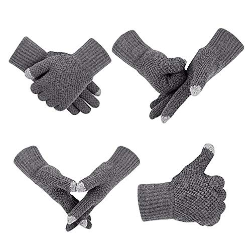 Winter Outdoor Riding Cycling Gloves Soft Thicken Knitted Touch Screen Texting Gloves for Smartphones PC Laptop Tablet Smart Touch-nology in Fingertips Gloves from ()