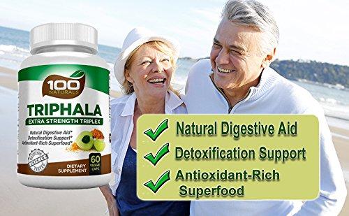 100 Naturals Triphala - Pure Himalaya Triphala Extract Plus Capsules-maximum Strength, 1500 Mg, 60 Veggie Capsules