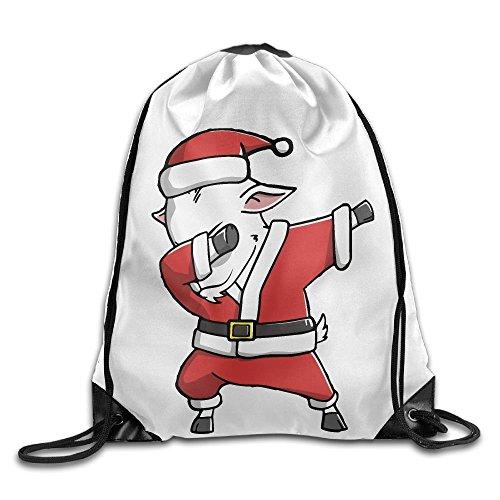 Dabbing Goat Ugly Christmas Sweater Unisex Home Rucksack Shoulder Bag Travel Drawstring Backpack (Ugly Goat)