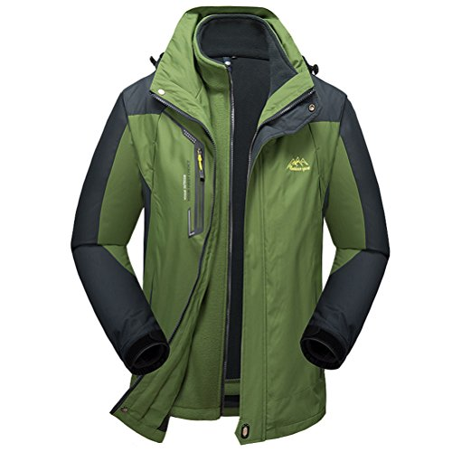 [Timeiya Men's Thicken Warm Jackets for Mountaineering Twinset Winter] (Best Figure Skating Costumes)