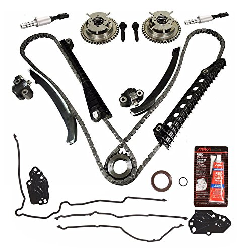 Repair Kit Replaces For Ford 5.4L 3V Camshaft Drive Phaser - Phaser Sprockets, Tensioners, Guides, Chains Kit 3L3E6C524FA 3R2Z6A257DA (Camshaft Chain Guide)