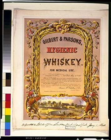 amazon com photo reprint gilbert and parsons hygienic whiskey for