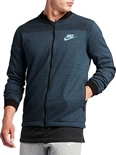 Nike Men's Sportswear Advance 15 Jacket, Squadron Blue/Heather/Mica Blue (S)