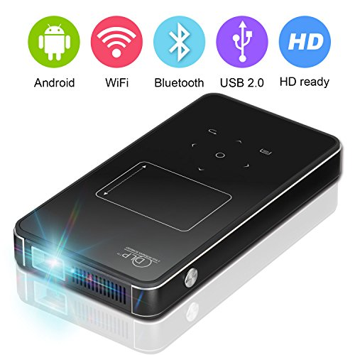 Pico projector dlp mini projectors 1080p wifi bluetooth for Mini bluetooth projector