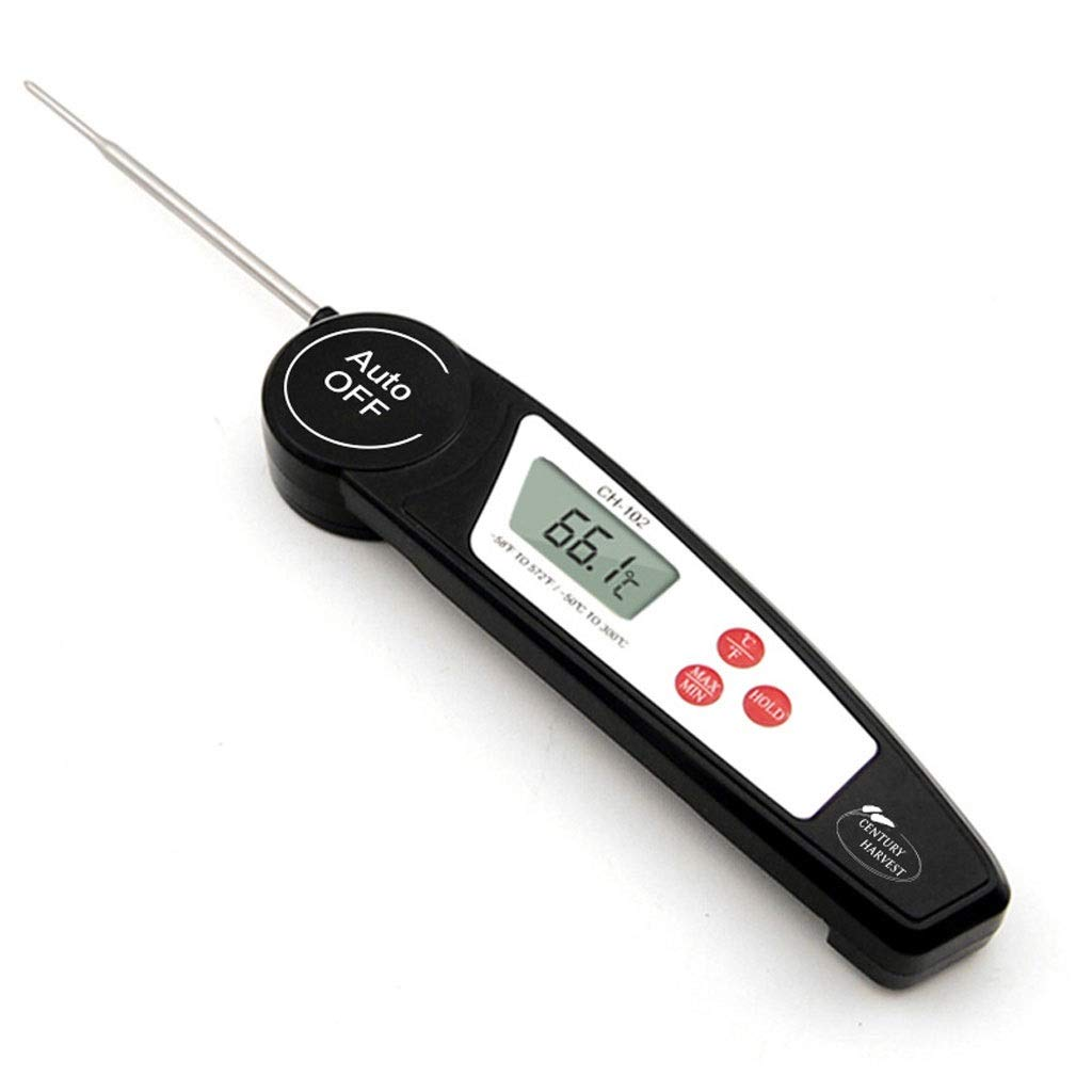 RTYUU Meat Thermometer Digital Instant Read Thermometer Waterproof Cooking, Electronic LCD Digital Display Folding Probe Type for Meat Grill BBQ Kitchen by RTYUU