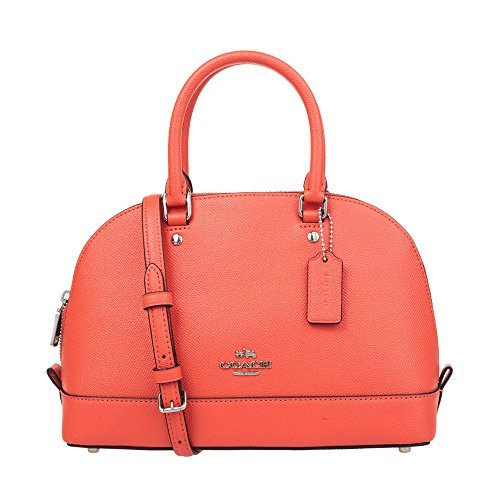 COACH Womens leather Hand shoulder bag F57555 (orange) by Coach