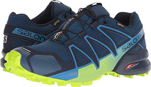 Salomon Men's Trail Running Shoe, Poseidon/Navy Blazer/Lime Green, 6.5 UK