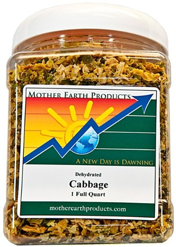 Cabbage Vegetable (Mother Earth Products Dried Cabbage, Quart Jar)