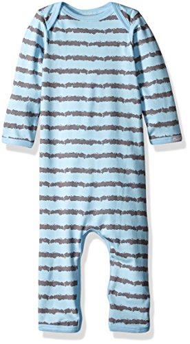 Coccoli Baby Boys' Rail Print Jersey Knit Cotton/Modal Unionsuit, Slate/Blue, 12 Months