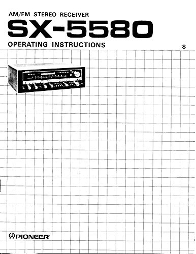 Photo Pioneer SX-1050 Receiver Owners Instruction Manual Reprint [Plastic Comb]