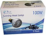 Blue Spotted 4 Sunning Heat Lamps, 100 Watt (2 Value Packs) For Use With Terrariums And Provides A Basking Lamp For Basking Reptiles, Amphibians, Small Animals, Birds, And Farm Animals