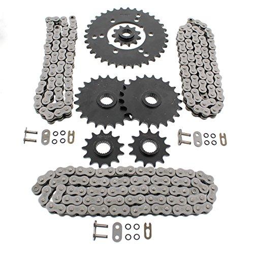 Polaris Xplorer 400 4x4 O Ring Chains & Complete Sprocket Set (Polaris Xplorer 400 Atv)