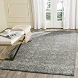 Safavieh Evoke Collection EVK270S Vintage Grey Ivory Area Rug (6'7″ x 9′)
