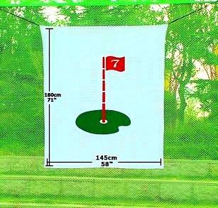 Hubble Golf Target Golf Training Aid Driving Range Target Backstop Flag Targets(5'x6) Sports -