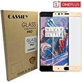 "Cassiey Oneplus 3 Oneplus 3T Tempered Glass Oneplus 3 Full Cover Screen Protector Gold One Plus 3 Screen Replacement 5.5"" - Gold"