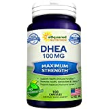Rein DHEA (100mg Max Strength, 100 Capsules) to Promote Balanced Hormone Levels for Women & Men - Natural DHEA Supplement Pills to Support a Healthy Libido, Brain, Immune Function, Energy & Metabolism