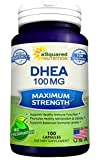 Pure DHEA (100mg Max Strength, 100 Capsules) to Promote Balanced Hormone Levels for Women & Men - Natural DHEA Supplement Pills to Support a Healthy Libido, Brain, Immune Function, Energy & Metabolism