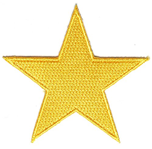 Gold Star Patch (2.5 X 2.5 Inch) $4.95 with FREE FREIGHT from San Diego - Yellow Star Patches