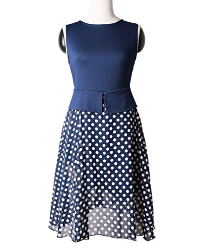 Babyonlinedress Damen A-Linie Kleid Gr. xl, blau