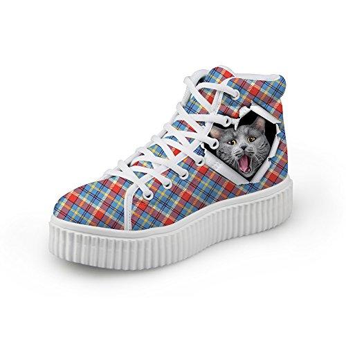 Knuffels Idee Klassiek Casual Geruite Schoenen Platform Sneakers Kat 3