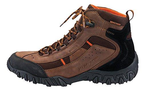 Allrounder Mens Sambor Tex Boots Maglia Marrone Scuro Ori / Sandwich