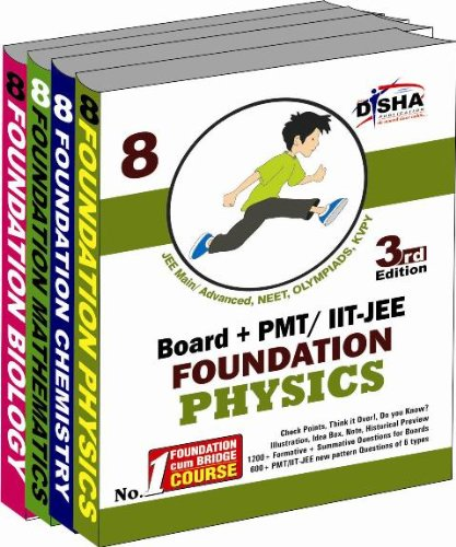 New Pattern Class 8 Boards + PMT/IIT Foundation (Science + Maths) – Set of 4 books