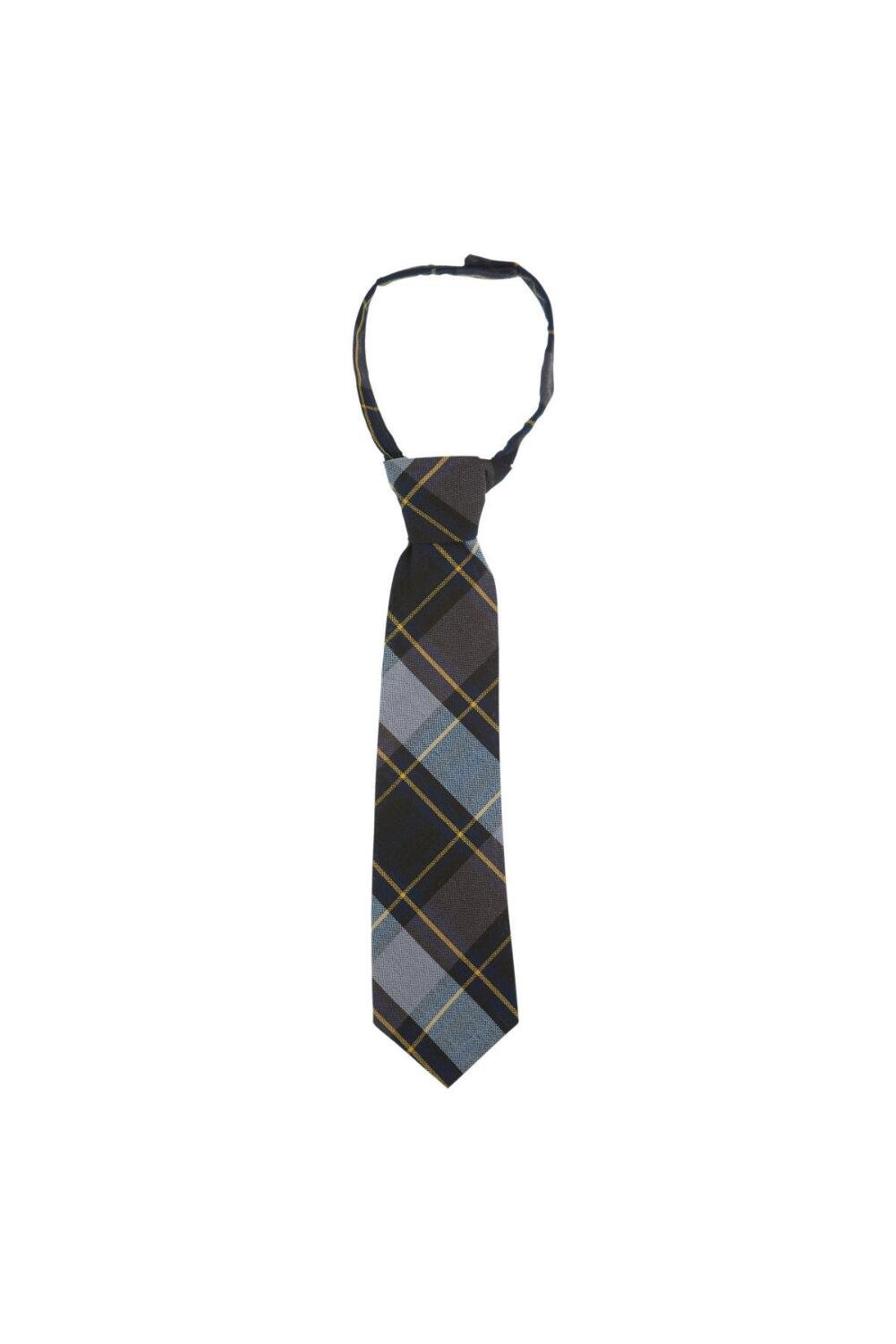French Toast Boys' Adjustable Plaid 8-12 Size Tie, Blue/Gold Plaid, One Size by French Toast (Image #1)