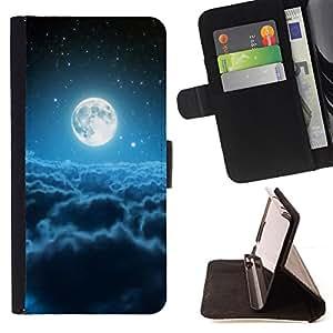 BullDog Case - FOR/Apple Iphone 5C / - / Space Planet Galaxy Stars 65 /- Monedero de cuero de la PU Llevar cubierta de la caja con el ID Credit Card Slots Flip funda de cuer