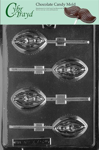 Cybrtrayd XX525 Lady Lolly Chocolate Candy Mold with Exclusive Cybrtrayd Copyrighted Chocolate Molding Instructions