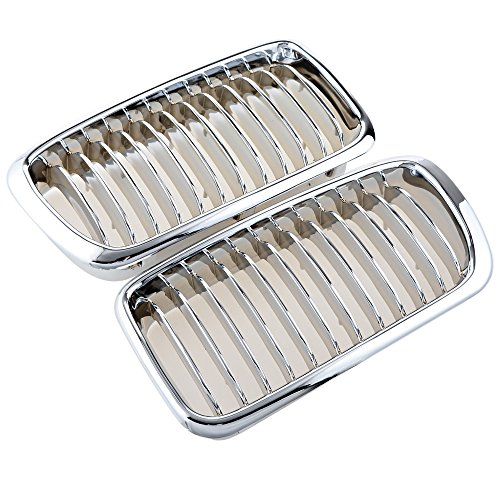 Bmw Grille 740i Replacement (Exact Fit 1995-2001 BMW E38 740i 740iL 750iL Chrome Front Hood Kidney Grille Grill)